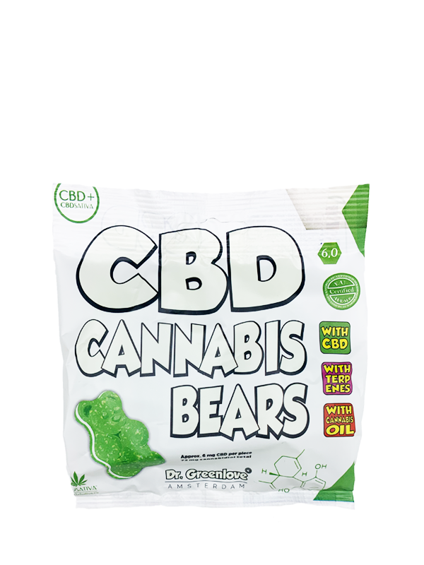 A bag of CBD Cannabis Bears contains 72 mg cannabidiol